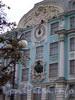 Петроградская наб., д. 2-4. Фрагмент основного фасада Нахимовского военно-морского училища. Фото сентябрь 2004 г.