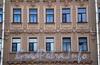 Наб. канала Грибоедова, д. 68. Бывший доходный дом. Фрагмент художественного оформления фасада. Фото август 2009 г.