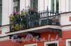 Наб. канала Грибоедова, д. 119. Доходный дом Я. А. Фохтса (Ф. М. и М. М. Богомольцев). Решетка балкона. Фото август 2009 г.