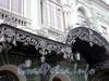 Наб. реки Фонтанки, д. 65. Здание Малого театра (БДТ им. Товстоногова). Козырек парадного входа. Фото август 2009 г.