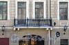 Наб. реки Мойки, д. 10. Бывший доходный дом. Решетка балкона. Фото март 2010 г.