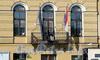 Наб. реки Мойки, д. 11. Генеральное Консульство Королевства Нидерланды. Решетка балкона. Фото март 2010 г.