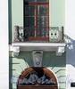 Наб. реки Мойки, д. 23. Особняк С. С. Абамелек-Лазарева. Решетка балкона. Фото март 2010 г.