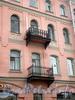 Наб. реки Фонтанки, д. 66. Доходный дом М. П. Кудрявцевой. Фрагмент фасада с балконами. Фото март 2010 г.