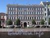 Наб. реки Мойки, д. 93. Дом А. С. Уварова (В. А. Грейга). Фасад по набережной. Фото июнь 2010 г.