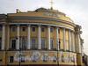 Английская наб., д. 2 / Сенатская пл., д. 1. Здание Сената (Конституционного суда). Угловая часть фасада. Фото июнь 2009 г.