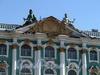 Дворцовая наб., д. 38. Зимний дворец. Скульптурная группа над центральным фронтоном. Фото июнь 2010 г.