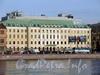 Пироговская наб., д. 9. Фасад здания. Вид с Петроградской набережной. Фото апрель 2010 г.