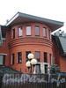 Наб. Мартынова, д. 40. Здание комплекса Петербургского теннисного клуба им. В. И. Никифорова. Центральная часть фасада. Фото сентябрь 2010 г.