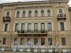 Наб. Кутузова, д. 4 / Кричевский пер., д. 2. Фасад по набережной. Фото сентябрь 2010 г.