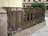 Наб. Кутузова, д. 22 / Гагаринская ул., д. 2. Ограда палисадника на углу дома. Фото сентябрь 2010 г.