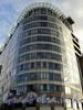 Песочная наб., д. 12. Жилой комплекс «Новая Звезда». Фрагмент угловой части фасада. Фото сентябрь 2010 г.