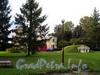 Песочная наб., д. 10. Особняк М. А. Новинской и B. А. Засецкой. Общий вид комплекса. Вид из сада. Фото сентябрь 2010 г.