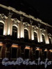 Наб. реки Фонтанки, д. 42 / Невский пр., д. 41. Дворец Белосельских-Белозерских. Ночная подсветка фасада по набережной. Фото январь 2011 г.