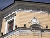 Наб. реки Мойки, д. 20 (18 А). Здание Придворной певческой капеллы. Левый корпус. Фрагмент угловой части фасада. Фото июнь 2010 г.