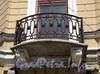 Наб. реки Мойки, д. 20 (18 А). Здание Придворной певческой капеллы. Левый корпус. Угловой балкон. Фото июнь 2010 г.
