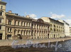 Перспектива нечетной стороны набережной реки Мойки (дд. 67/69-63) от Гороховой улицы в сторону Кирпичного переулка. Фото июнь 2010 г.