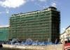 Наб. реки Мойки, д. 73 / Гороховая ул., д. 15. Реконструкция. Фасад по набережной. Фото июнь 2010 г.