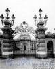 Наб. реки Мойки, д. 122. Дворец великого князя Алексея Александровича. Вид на ворота и дворец со стороны Мойки. Фото ателье Буллы (около 1903 г.) (из архива ЦГАКФФД)
