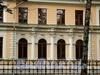 Наб. Малой Невки, д. 35. Фрагмент фасада. Фото сентябрь 2010 г.