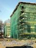 Наб. Малой Невки, д. 1. Каменноостровский дворец. Главный фасад. Реставрация. Фото апрель 2011 г.