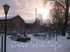 Наб. Обводного канала, дом 5. Часть Никольского кладбища и вид на склады. Фото февраль 2012 г.