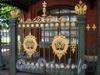 Петровская наб., д. 6. Музей Домик Петра I. Ворота ограды. Фото 2008 г.