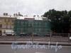 Синопская наб., д. 30, левый флигель здания, ремонт фасада. Фото август 2008 г.