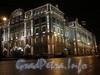 Петроградская наб., д. 2-4. Нахимовское военно-морское училище. Ночная подсветка здания. Фото декабрь 2008 г.