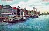 Перспектива Английской набережной. Вид от Благовещенского моста. Старая открытка.