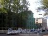 Фрагмент фасада снесенного дома 1 по шоссе Революции и дом 46 по Свердловской наб. Вид от Пискаревского пр.. 3 мая 2008 г.