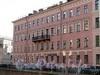 Наб. канала Грибоедова, д. 61 / Казначейская ул., д. 1. Дом Сидорова (Н.П.Пономаревой). Фасад здания по набережной. Фото июль 2009 г.