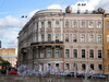 Наб. реки Фонтанки, д. 32 / ул. Белинского, д. 1. Доходный дом Г.Г.Кушелева-Безбородко (В.А.Дембицкого). Общий вид здания. Фото август 2009 г.