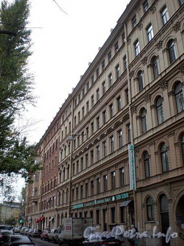 Наб. канала Грибоедова, дд. 50, 52. Доходный дом Н. В. Безобразовой. Фасад здания. Фото октябрь 2009 г.