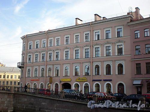 Наб. канала Грибоедова, д. 64 / Кокушкин пер, д. 1. Доходный дом Гарфункель. Фасад здания по набережной. Фото август 2009 г.