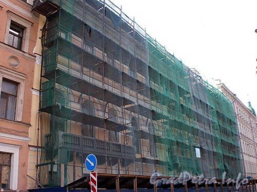 Наб. реки Фонтанки, д. 7. Реставрация фасада здания. Фото август 2009 г.