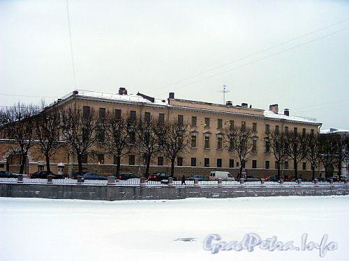 Наб. реки Фонтанки, д. 33.жилой корпус Аничкова дворца. Фасад здания. Фото 2004 г.