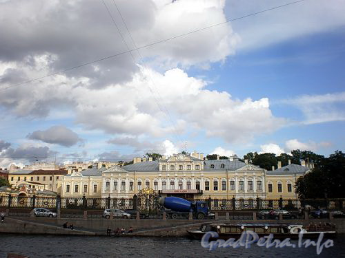 Наб. реки Фонтанки, д. 34. Шереметевский дворец («Фонтанный дом»). Общий вид. Фото август 2009 г.