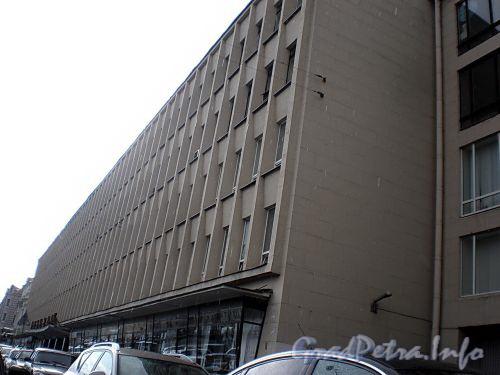 Наб. реки Фонтанки, д. 59. Здание «Лениздата» («Дома прессы»). Фасад здания. Фото август 2009 г.