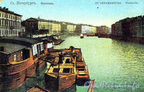 Перспектива четной стороны набережной от моста Белинского в сторону Аничкова моста.