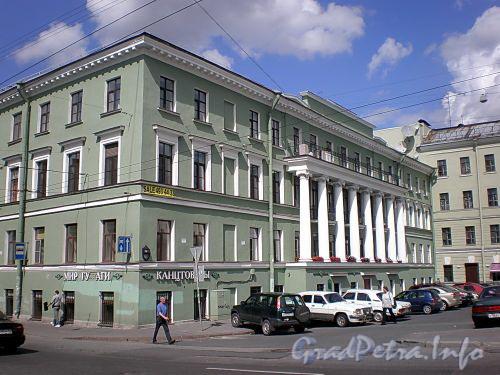 Наб. реки Фонтанки, д. 79 / Гороховая ул., д. 50. Фасад по набережной. Фото июль 2009 г.