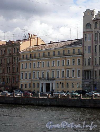 Наб. реки Фонтанки, д. 84. Дом П. П.жако. Фасад здания после реконструкции. Фото июль 2009 г.