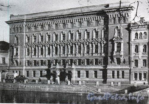 Наб. реки Фонтанки, д. 64. Доходный дом Г. Г. Елисеева. Фасад здания. Фото 1970-х годов. (из книги «Историческая застройка Санкт-Петербурга»)