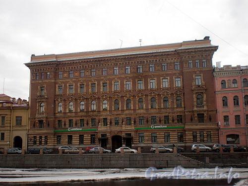 Наб. реки Фонтанки, д. 64. Доходный дом Г. Г. Елисеева. Фасад здания. Фото март 2010 г.