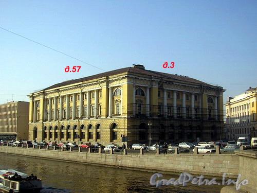 пл. Ломоносова д.3 - наб. р. Фонтанки д.57. До реставрации фасада 2005 г.