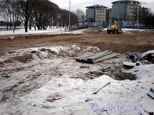 Реконструкция набережной Мартынова. Фото декабрь 2009 г.