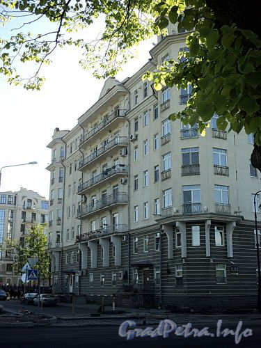 Наб. Мартынова, д. 4. Боковой фасад. Фото июнь 2010 г.