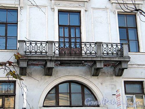Наб. реки Фонтанки, д. 23. Балкон. Фото октябрь 2010 г.