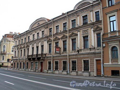 Наб. Кутузова, д. 24 / Гагаринская ул., д. 1. Фасад по набережной. Фото сентябрь 2010 г.