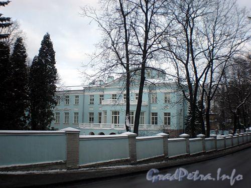 Наб. реки Крестовки, д. 2. Общий вид от реки Крестовки. Фото декабрь 2009 г.